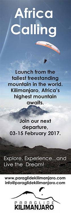 Paraglide Kilimanjaro