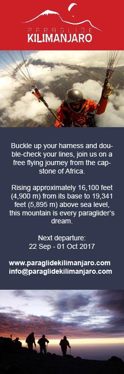 Paraglide Kilimamjaro
