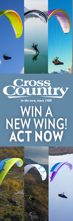 Win a paraglider in the Cross Country Summer Prize Draw