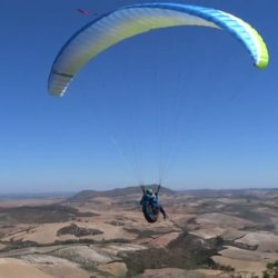 Paraglider Take off from Montellano, Spain Sept 16_Moment(3)