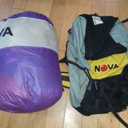 Glider in internal bag with rucksack