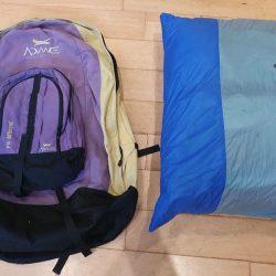 Glider in internal bag with rucksack / mini-daysack